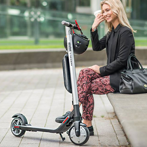 Ninebot by Segway Electric KickScooter ES2 Silver